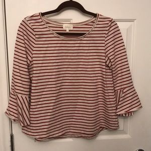 Anthropologie strip shirt